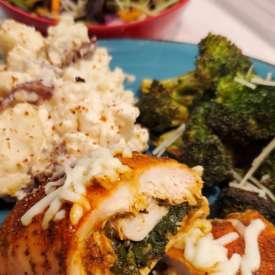 stuffed chicken breast meal